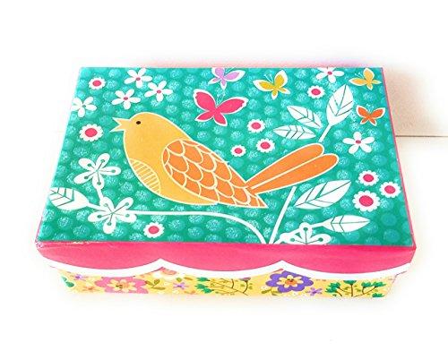 Beautiful Bird Butterflies and Flowers Cardboard Gift Box