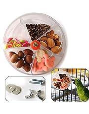 Sqxaldm Obrotowa zabawka papuga, zabawka do karmania dla ptaków, dozownik pokarmu zabawka, obracane kółko, tworzywo sztuczne, zabawka obrotowa, poszukiwanie pożywienia, miska, inteligencja, zabawka