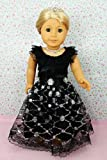 ** RUBY ROSE ** Black Swan – Satin and Lace Design Awards Ceremony Gown with Musical Note Rhinestone Necklace ~ Fits 18″ American Girl Dolls, Baby & Kids Zone
