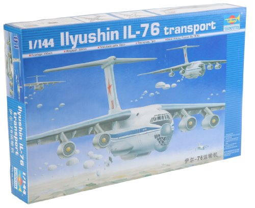 (Trumpeter 1/144 Scale Ilyushin IL76 Candid Troop Transport Aircraft)