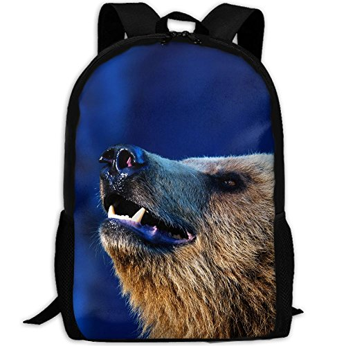CY-STORE Bears Snout Animals Outdoor Shoulders Bag Fabric Backpack Multipurpose Daypacks For Adult by CY-STORE