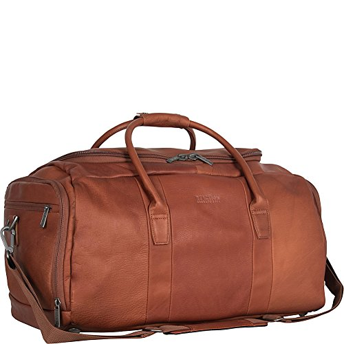 Kenneth Cole Reaction Duff Guy Colombian Leather Duffel Bag (Cognac) by Kenneth Cole REACTION