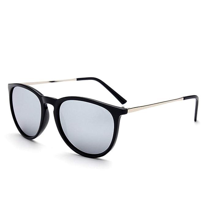 3c1d28700f CCMOO 2018 Retro Hombres Gafas de sol redondas Mujeres Hombres Diseñador de  la marca Gafas de sol para mujer Gafas de sol de espejo de aleación-1: ...