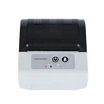 ZUKN Impresora Térmica Inalámbrica Bluetooth con Cortador ...