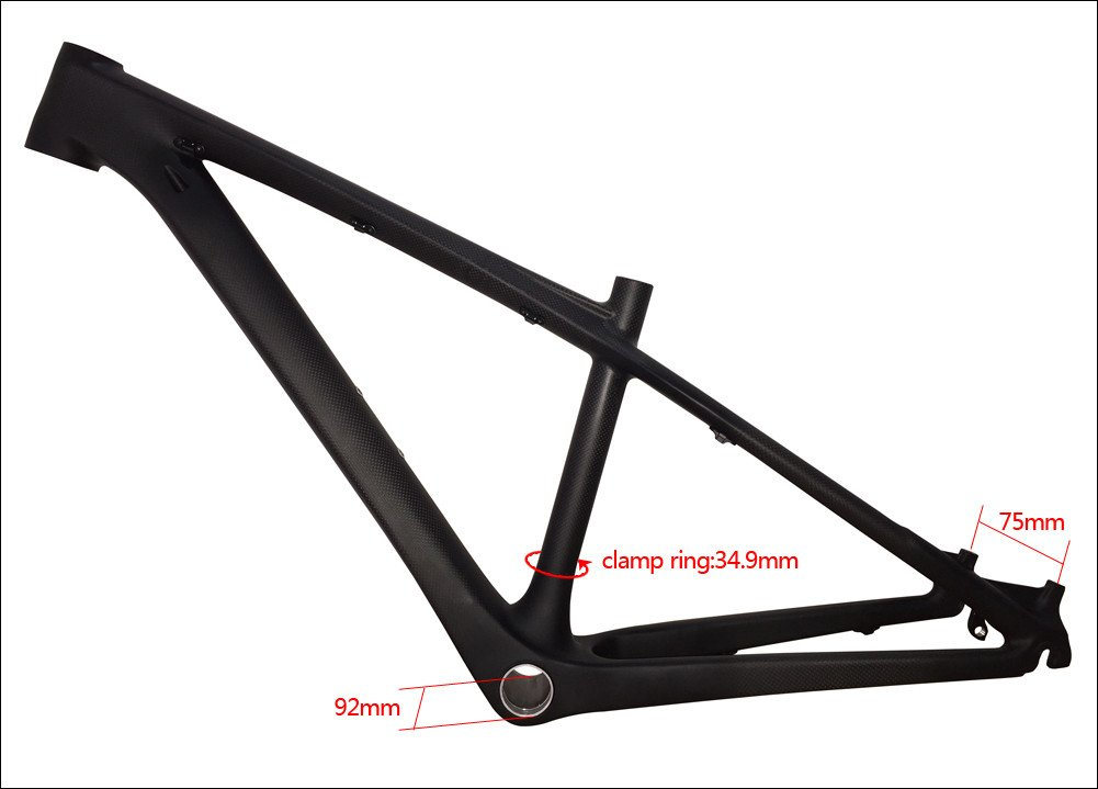 Fasteam 26er 16 '' 3K Matte Full Carbon Bicycle Frame MTB Frame with Bottom Bracket and Headset by Fasteam (Image #4)