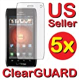 5x Motorola DROID 4 XT894 Premium Invisible Clear LCD Screen Protector Cover ...