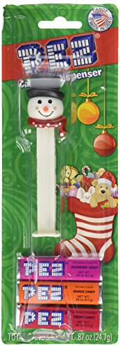 PEZ - Winter Snowman - In Blister pack with three (3) Candy - Santa Pez