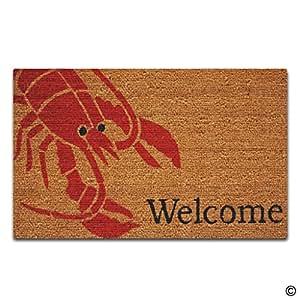 ARTSWOW personalizado Felpudo Funny alfombrilla de suelo langosta Welcome Felpudo con Felpudo de goma antideslizante decorativo de al aire libre 18por 30pulgadas