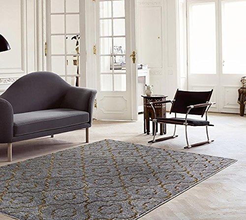 3028 Gold Moroccan Trellis 7'10x10'6 Area Rug Carpet Large New - Area Accent