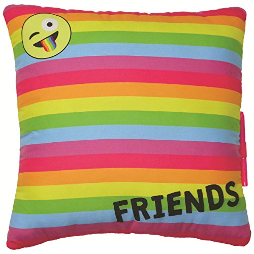 iscream Emoji Party Souvenir Autograph Pillow for Parties, Camp, and More!