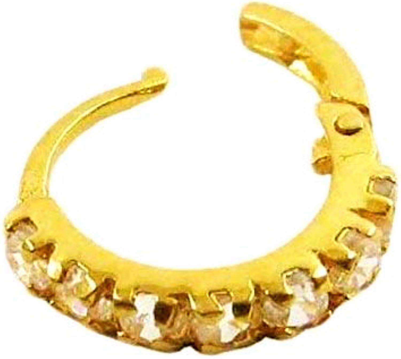 Jj Jewellers 18k 750 Gold Nose Rings For Women Stylish Saniya