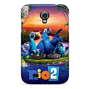 Anti-Scratch Cell-phone Hard Cover For Samsung Galaxy S4 (BVJ2840zXBJ) Support Personal Customs Lifelike Rio 2 Skin