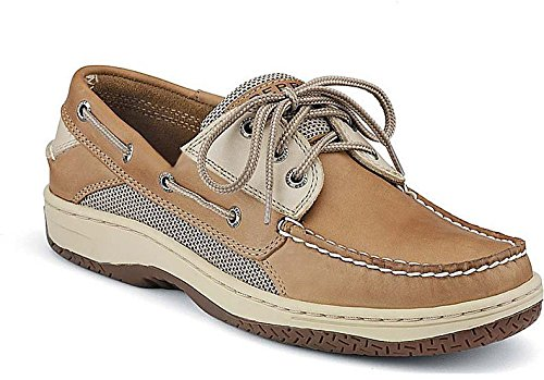 Sperry Top-Sider Men's Nautical Billfish 3-Eye Boat Shoe, Tan/Beige, 13 2E US