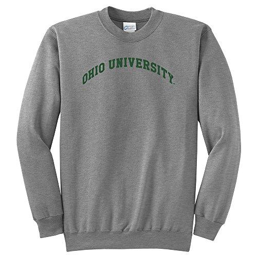 NCAA Ohio Bobcats University Arch Classic Crewneck Sweatshirt, Medium, Light Heather (University Ncaa Classic Fleece)