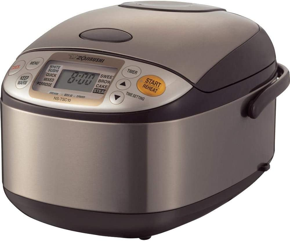 Zojirushi NS-TSC10 5-1/2-Cup (Uncooked) Micom Rice Cooker and Warmer, 1.0-Liter (Renewed)