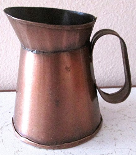 - Decorative Mini Antiqued Bronze Tone Metal Pitcher 3-1/2