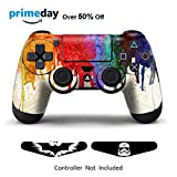 Skins for PS4 Controller - Decals for Playstation 4 Games - Stickers Cover for PS4 Slim Sony Play Station Four Controllers Pro PS4 Accessories PS4 Remote Wireless Dualshock 4 - Paints + 2 Light Bar