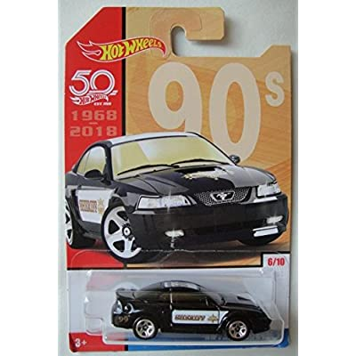 Hot Wheels 90s, BLACK '99 FORD MUSTANG 6/10 50TH ANNIVERSARY: Toys & Games
