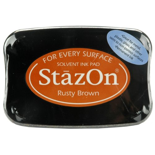 Tsukineko Full-Size StazOn Multi-Surface Inkpad, Rusty Brown