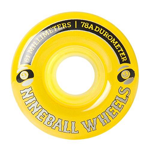 そこから一部サスペンドSector 9 Nine Balls Skateboard Wheel, Yellow, 61mm 78A by Sector 9