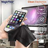 "(30 Pack) MagicFiber Microfiber Cleaning Cloths - For All LCD Screens, Tablets, Lenses, and Other Delicate Surfaces (29 Black and 1 Grey 6x7"")"