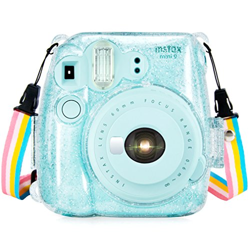 Wolven Protective Clear Case Compatible with Instax Mini 9,Mini 8,Mini 8+ Instant Camera, Crystal (Polaroid Transparent)
