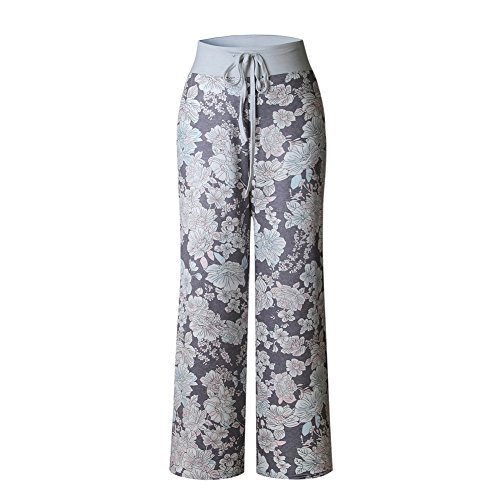 19 Alta Jogging Wide Pantalone Donna Per Jumpsuit Stampa Pants Hop Palestra Hip Color Chic Tuta Estivo Lungo Larghi Trousers Danza Yoga Vita Pantaloni Pigiama Boho Floreale Baggy Harem Leg Hippie Sportivi qtABAw