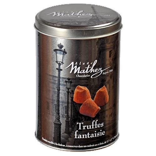 Mathez (France) - französische Schokoladentrüffel/Truffes Fantaisie in dekorativer Metalbox, 500 GR (netto)