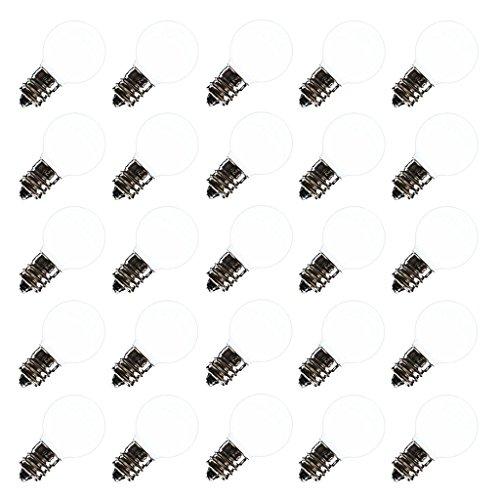 Vickerman 361856 - .96 watt G30 Pure White Ceramic LED Candelabra Screw (E12) Base (25 pack) Christmas Light Bulbs (XLEDCG3P)