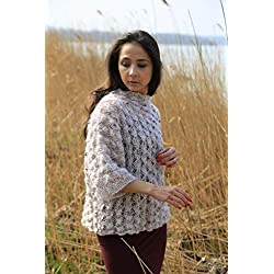 DesignEtte, Knitting kit, Mildred Top, Brown S/M