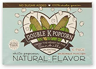 product image for Double K Popcorn Natural Flavored Microwave Popcorn 6 pack