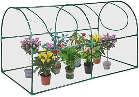 Educational Insights GreenThumb Greenhouse With Vinyl Cover, Perfect For Classroom, Home, and Herb Gardens- Indoor Outdoor Gardening