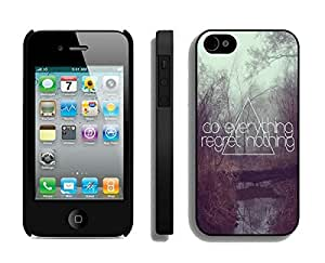 BINGO New fashion Do Everything Regret Nothing 1 iPhone 4 4S Case Black Cover