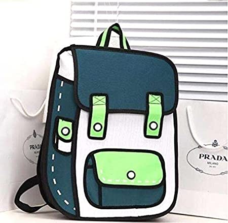 Amazon.com  Korean cartoon three-dimensional bag school bag 3d shoulder bag  computer bag personalized backpack 4b414a18893d6