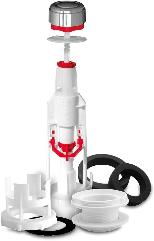 base et joints raccord Roca. Fominaya TYF10-3G D/échargeur universel pour chasse d/'eau avec bouton