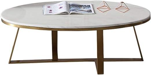 Y-Leah Mesa de Centro Simple, Mesa de Centro Ovalada, mármol ...