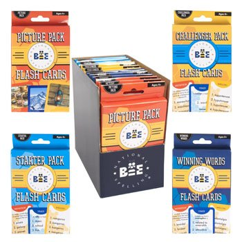 SPELLING BEE FLASH CARDS 4 ASST IN 2-12 PC PDQ, Case Pack of 24