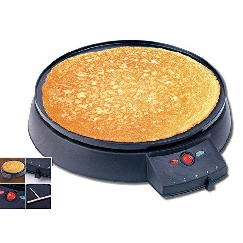 Crepe Maker Crepiera XL 900W Diametro 30 cm anti-aderente Cuisinier Elegance