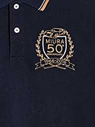 Automobili Lamborghini Mens Miura 50th Anniversary Polo Shirt S Blue