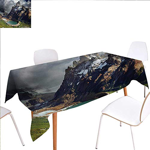 familytaste Landscape Dinning Tabletop Decoration Mount Fitz Roy and Laguna Torre Los Glaciares National Park Patagonia Argentina Table Cover for Kitchen 54