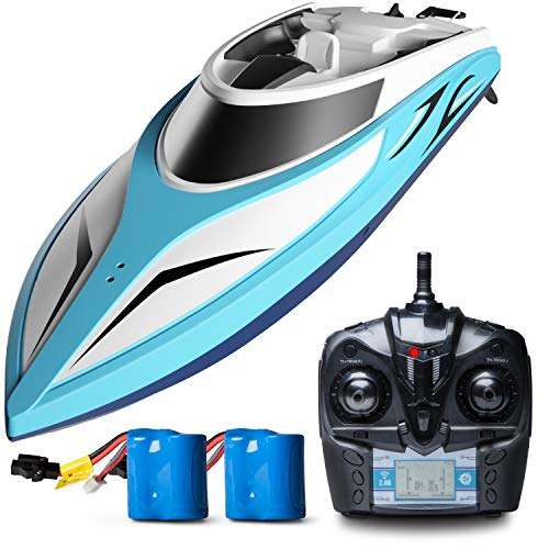 (Remote Control Boats for Pools and Lakes - H102 Remote Controlled RC Boats for Kids or Adults, Self Righting High Speed Boat Toys for Boys or Girls)