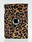 LiViTech(TM) Leopard Design Series 360 Degree Rotating PU Leather Case Cover for Apple iPad (iPad Mini 1 2 3, Orange)