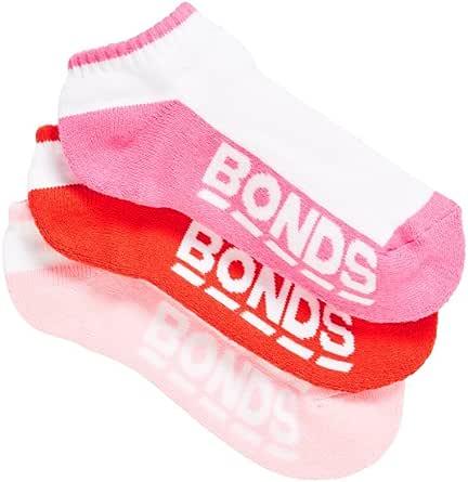 Bonds Kids Logo Low Cut Sport Socks (3 Pack), Assorted, 5-8 (2-4 Years)
