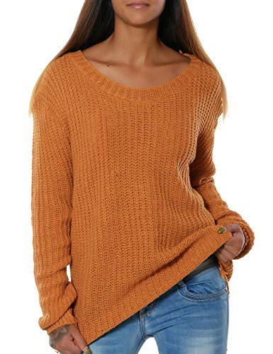 Foshow Womens Oversized Pullover Sweaters Long Sleeve Lightweight Crewneck Fall Jumpers Loose Ribbed Knit Tops