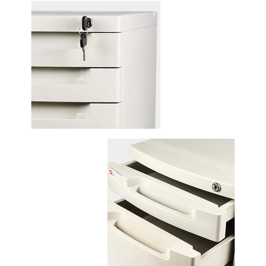 Dimensioni: 394 * 295 * 430mm Dimensioni : A ZCCWJG Archiviazione per cassettiera archivio di archiviazione con Serratura per archivio A4 Ufficio Bianco