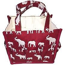 "Personalized Fashion Organizing Tote Bag - 12 Outside Pockets 10"" x 8"" x 8"""