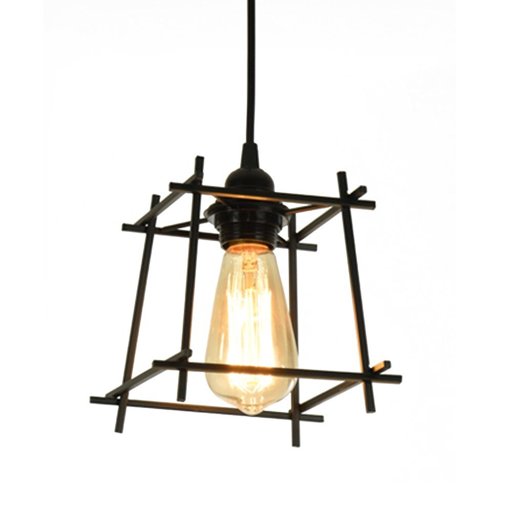 Lysed Pendant Light,Industrial Iron Art Style,Ceiling Lamp Pendent Fixture for Dinning Room Living room, bedroom, study, hallway, porch door chandelier Home Decoration E26/E27 bulb,Metal ceiling lamps