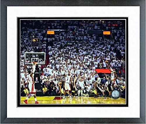 Ray Allen Matted Photo - Ray Allen Game Tying Three Pointer Game 6 of The 2013 NBA Finals Photo (Size: 12.5