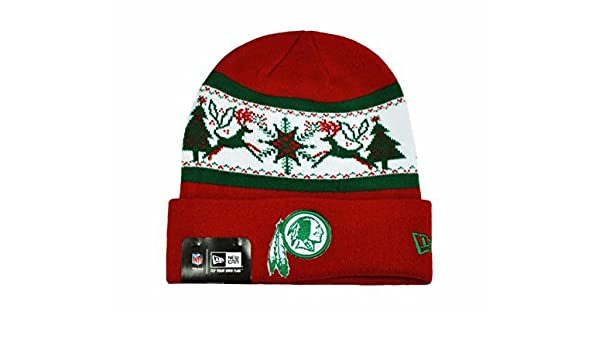 the latest 928dd 1b467 Amazon.com  NEW ERA NFL Knit Fillz Washington Redskins Beanie Christmas  Headwear HAT  Clothing