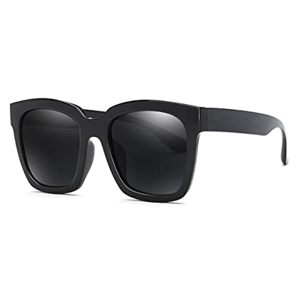 Gafas de sol YXX polarizadas negras Gafas retro Gafas de conducción al aire libre, peso
